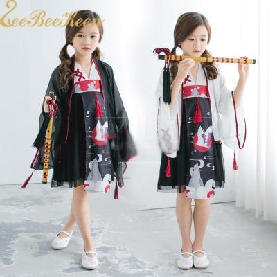 Girl Chinese Costume  Hanfu For Women Japanese Kimono Adult Traditiona Performance Dance Dress National costumes for Women