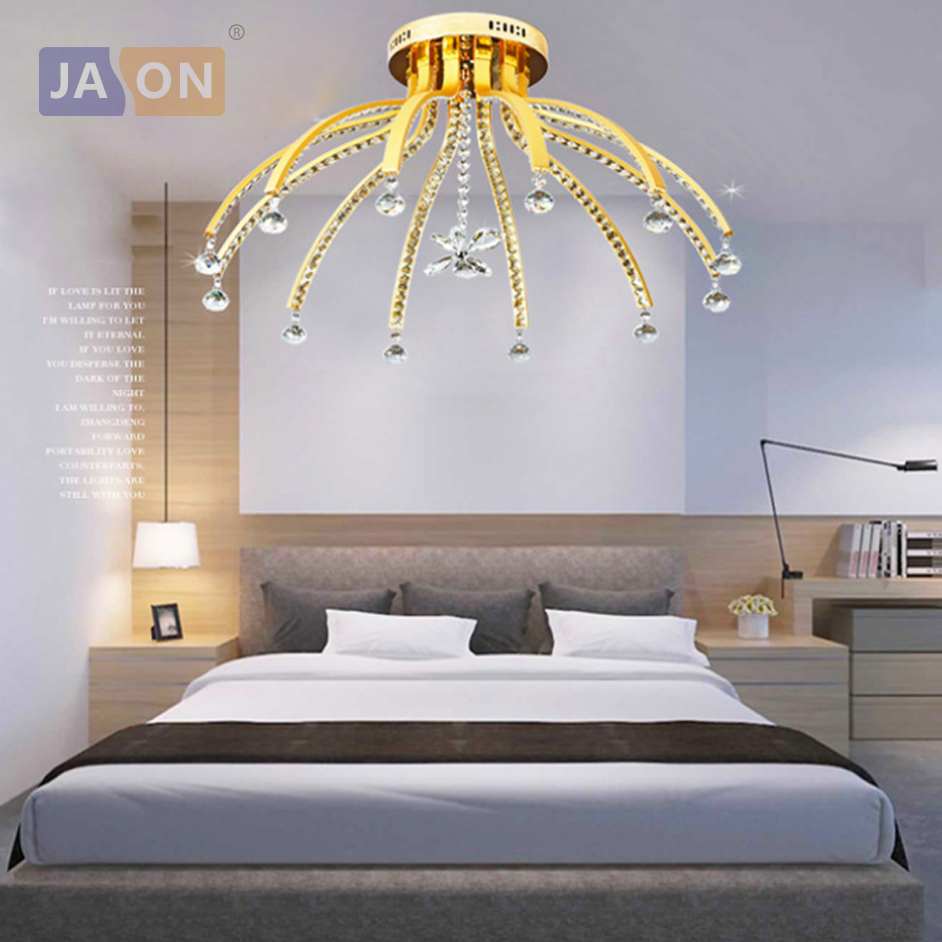 Lights & Lighting Considerate Led Nordic Stainless Steel Crystal Aluminum Led Lamp.led Light.ceiling Lights.led Ceiling Light Ceiling Lamp For Bedroom Ceiling Lights