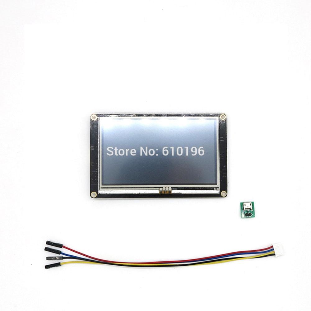 Nextion Enhanced 4.3'' HMI Intelligent Smart USART UART Serial Touch TFT LCD Module Display Panel for Arduino Raspberry Pi
