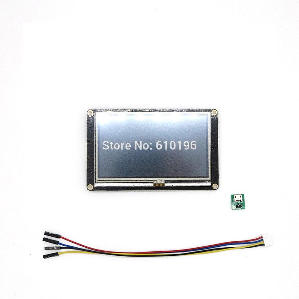 Nextion amélioré 4.3 ''HMI Intelligent Intelligent USART UART série tactile TFT LCD Module panneau d'affichage pour Arduino Raspberry Pi