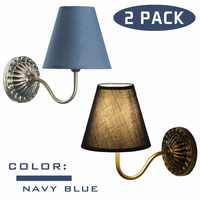 2 sets Euro Stil Wand Eisen Basis Lampe Tuch Schatten Indoor Beleuchtung für Hotel Restaurant Schlafzimmer Treppen Decor Grau Antike lampen