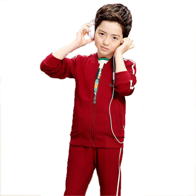 Children s Clothing Big Boy Sets Tops Pants Active Sets New Autumn Kids Boy Zipper Clothes