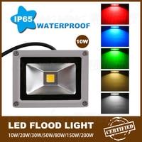 Luz De Inundação levou 10 W RGB IP65 ao ar livre Holofote DC12V levou Holofotes refletor
