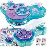 Disney frozen girls Nail Tattoo nail sticker Makeup set with box princess Beauty pretend play toys kids birthday gift
