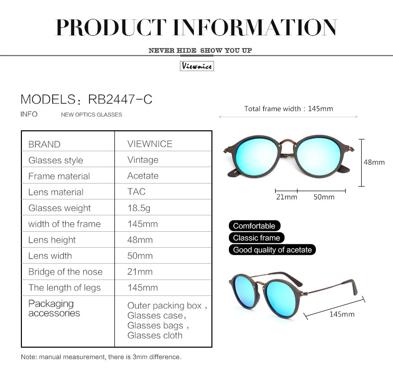 womens Retro sunglasses wooden 17