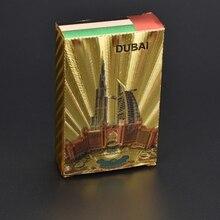 UB Dubai design Gold Playing Cards Poker Game Waterproof