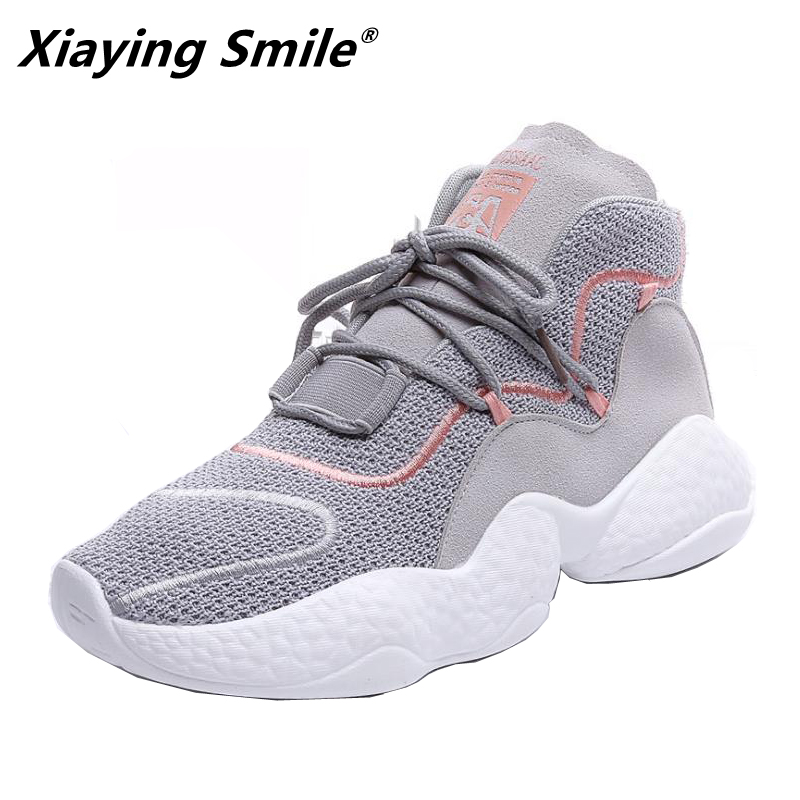 Xiaying Smile NEW arrival Running Shoes women Sports Shoes for woman lace up footwear Outdoor walking Shoes women Sneakers