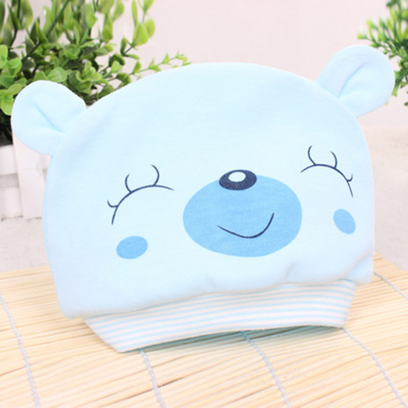 free shipping 200PCS/LOT New Cute Newborn Infant Toddler Girl Boy Baby Cap bear Beanie Cotton Hat cartoon bear baby girl boy toddler infant kid newborn children knit hat beanie cotton cap