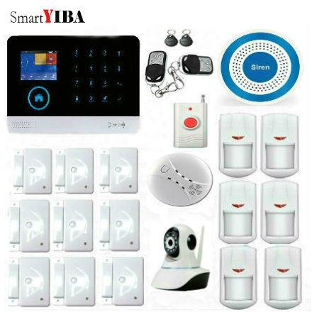 SmartYIBA 2 4G WiFi GSM font b Alarm b font System IP Camera Surveillance APP Control