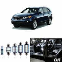 8pcs Car Lamp LED Light Bulbs Interior Package Kit For 2011 2012 2013 Kia Sorento Map Dome Trunk License Plate Light White