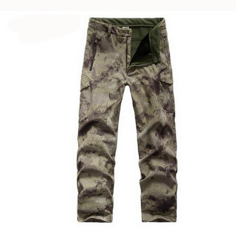 Gear Tactical Waterproof Soft Shell Pants Men Windproof Warm Camo Fleece Military Trousers Shark Skin Army Hunt Camouflage Pants-in Hunting Pants from Sports & Entertainment on AliExpress - 11.11_Double 11_Singles' Day 1