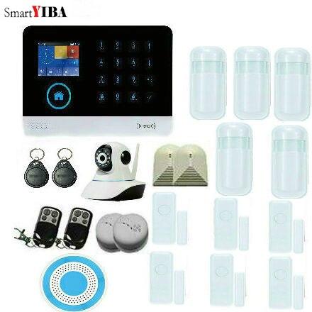 SmartYIBA Wi Fi 3G WCDMA сигнализации Системы сигнализации дома Наборы детектор движения противопожарной защиты дома окна, двери охранной Наборы
