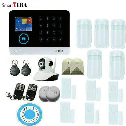 SmartYIBA WiFi 3G WCDMA Alarm System Home Alarm Kits Motion Detector Fire Protection Home Window Door Burglar Security Kits