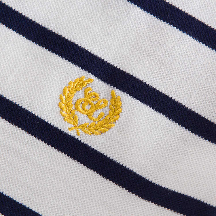 ניו חיל הים לבן רקמה מקרית פולו פסים הדפסת המפלגה מיני Vestido De Festa Vestidos אלגנטי נשים הקיץ בתוספת גודל