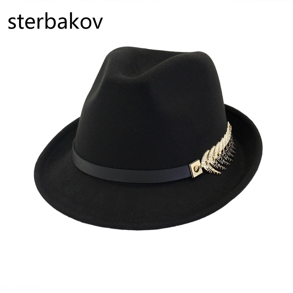 5a8f8c769d1 New Black Wool Women s Wool Fedora top Hat For Laday Church Cap Vintage  Panama Sun Wide