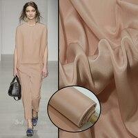138cm wide 30mm 100% silk wide pound crepe de Chine pure color crepe dress windbreaker silk fabric.