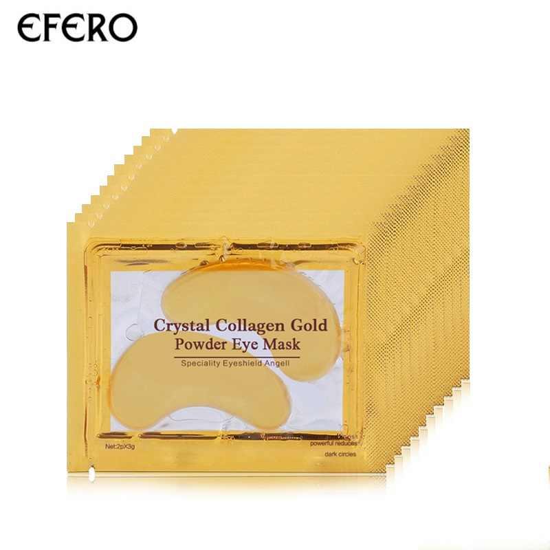 EFERO 8 пар = 16 шт. коллагеновая Золотая маска на лицо избавляет от темных кругов Антивозрастные патчи для ухода за глазами увлажняющий крем