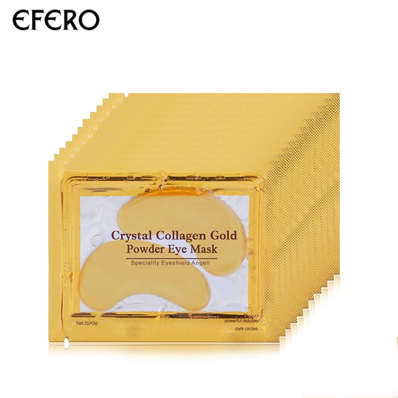 EFERO 8pair=16pcs Collagen Gold Eye Mask Face Mask Anti Dark Circles Anti-Aging Eye Patches For The Eye Care Moisturizing Cream