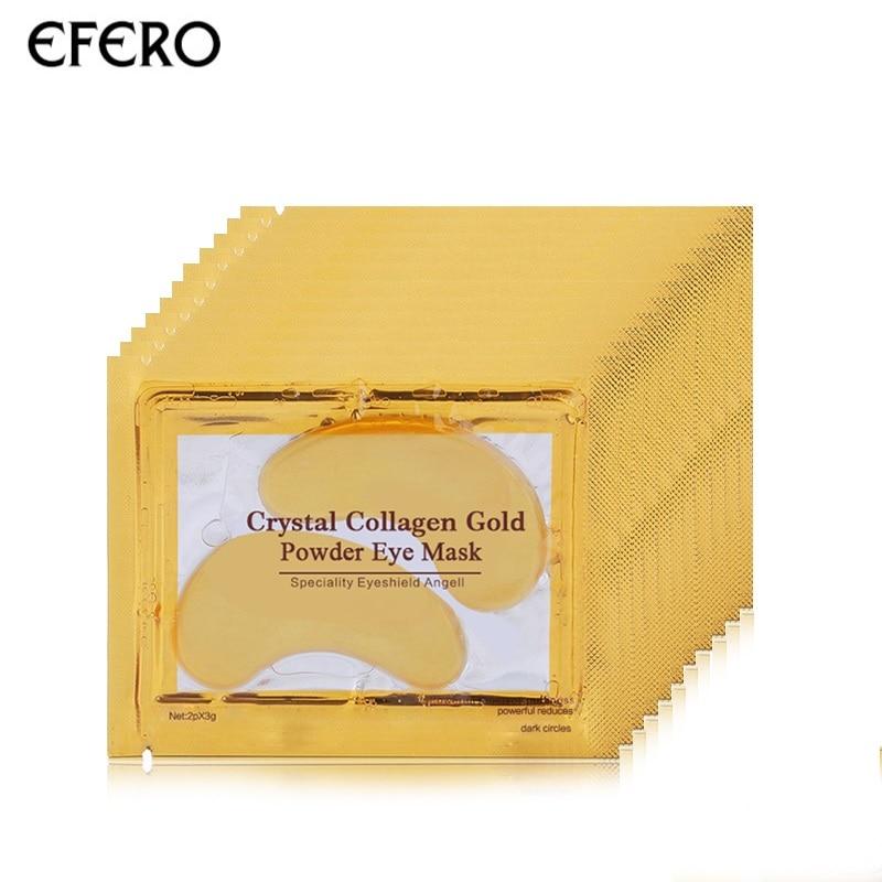 EFERO 8pair=16pcs Collagen Gold Eye Mask Face Mask Anti Dark Circles Anti-Aging Eye Patches for the Eye Care Moisturizing Cream цена