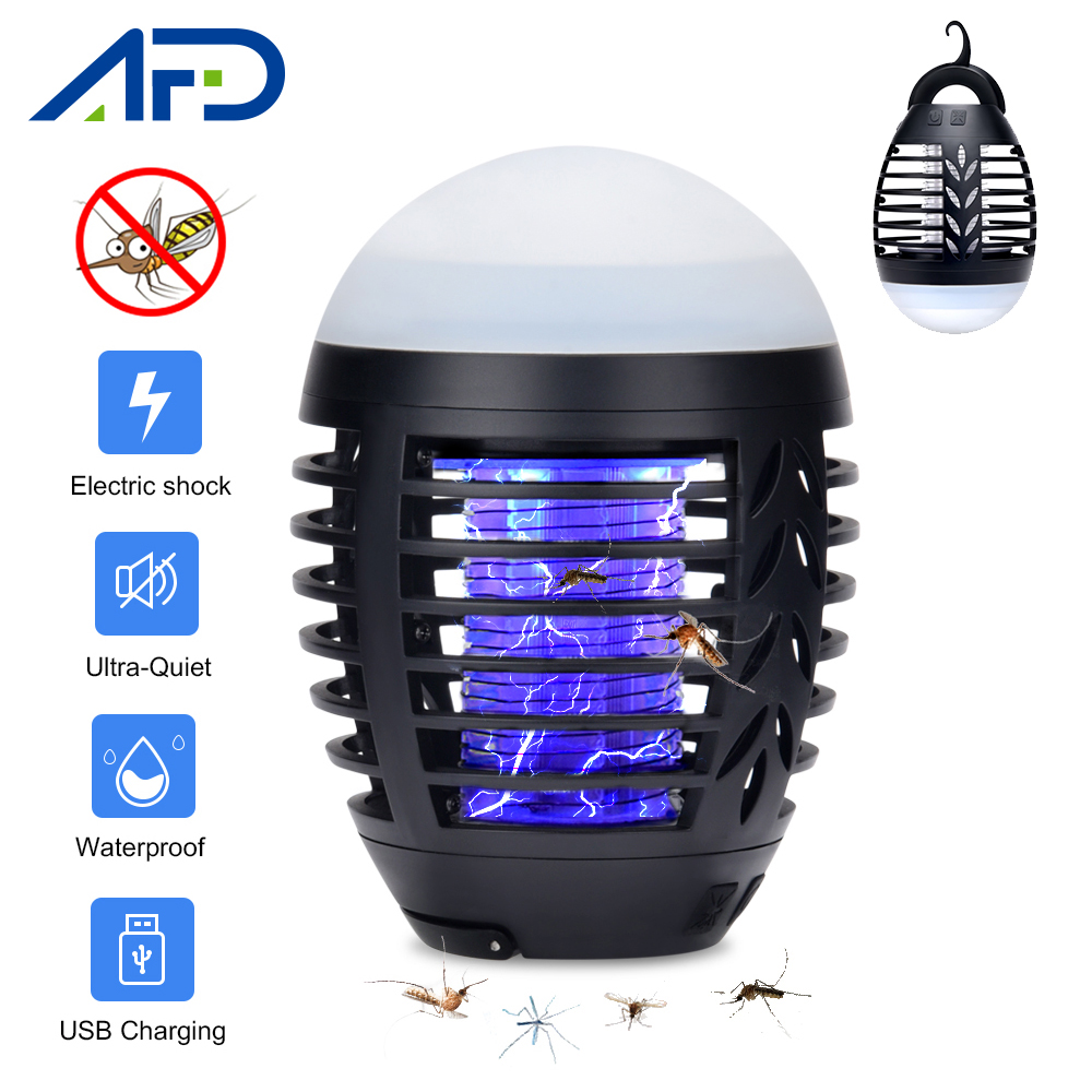 Summer Camping Mosquito Killer Lamp Home Outdoor Electric Waterproof Mosquito Killer Trap Lantern USB Charging Anti Mosquito(China)