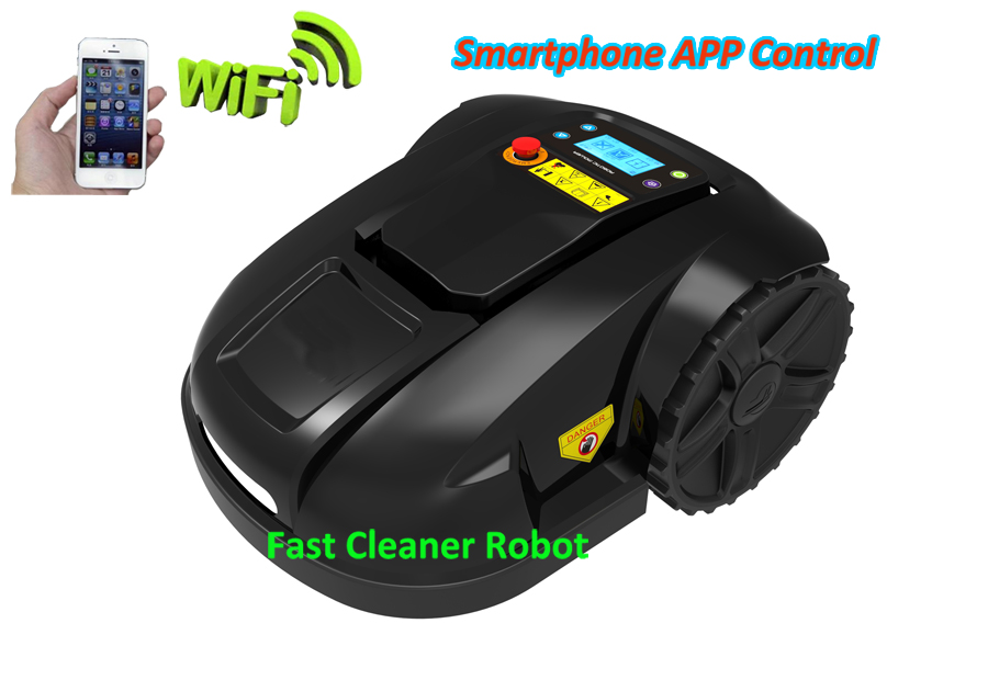 2017 6th Generation Smartphone WIFI APP Control Mini Robot Grass Garden Tool Lawn Mower Robot With NEWEST GYROSCOPE newest wifi app smartphone wireless remote control lawn mower robot with water proofed charger range subarea compass functions