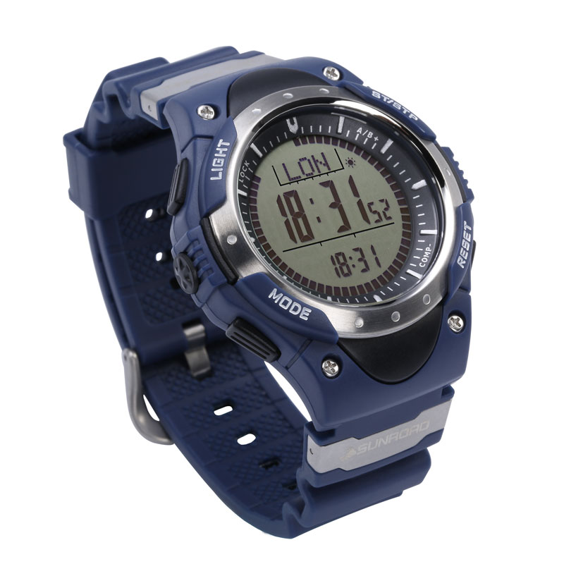 SUNROAD Sports Watch Men FR826A-Digital Compass Barometer Watches Altimeter Pedometer New Arrival Clock Relogio Men Watch sunroad 2018 new arrival outdoor men sports watch fr851 altimeter barometer compass pedometer sport men watch with nylon strap