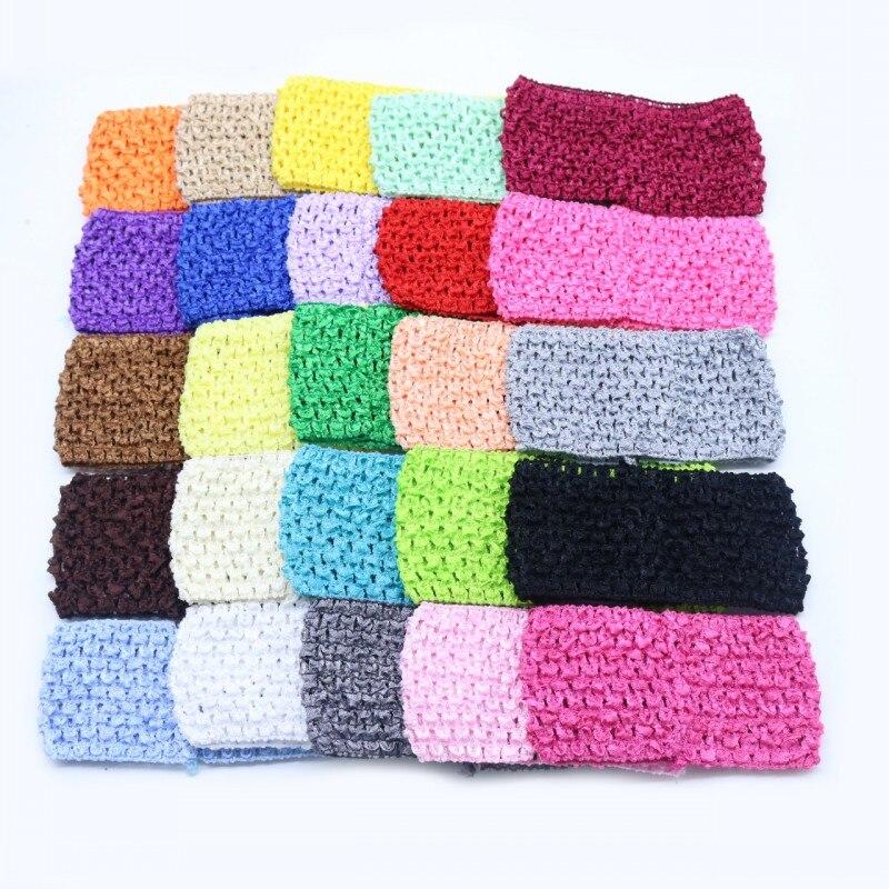 1pcs/lot 14*7cm Children Crochet Hair with High Elastic Solid Woven Belt Tube Tutu Tops Wrap Chest DIY Baby Girls Skirt