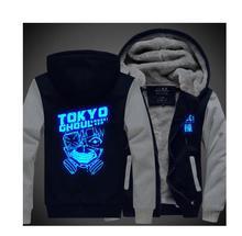 Tokyo Ghoul Hoodie New Anime Ken Kaneki Coat Luminous Thick Jacket Fashion Men Women Winter Zipper Hooded Sweatshirt