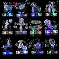 12 Constellation 3D Crystal Puzzle DIY Adult Puzzle Jigsaw With LED Light Delicate Home Decor Lucky Gifts For Women