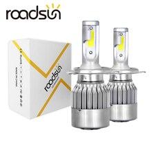 Roadsun автомобильный светильник s лампы светодиодный H7 H4 H11 H1 H3 H13 880 9004 9005 9006 9007 9003 HB1 HB2 HB3 HB4 H27 авто головной светильник s 12V светодиодный светильник