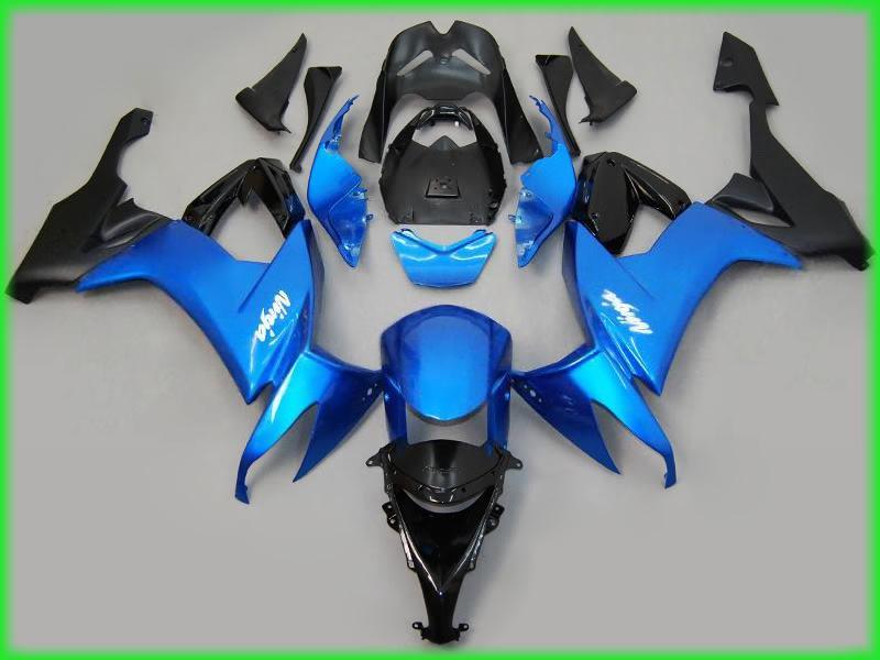Motorcycle Fairing kit For Kawasaki Ninja ZX10R 2011 2010 2009 2008 Metallic blue Fairings 08 09 10 11 +EMS free n85