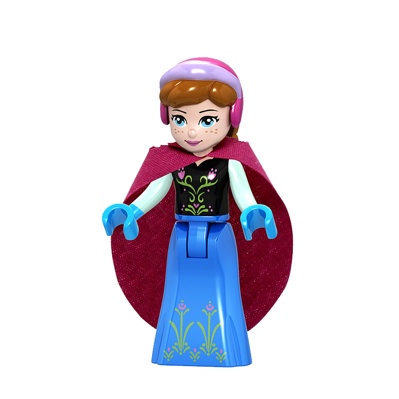 Duplo technic Cartoon princesse friends brick Figures set building blocks Compatible With playmobil toys for children gift in Blocks from Toys Hobbies