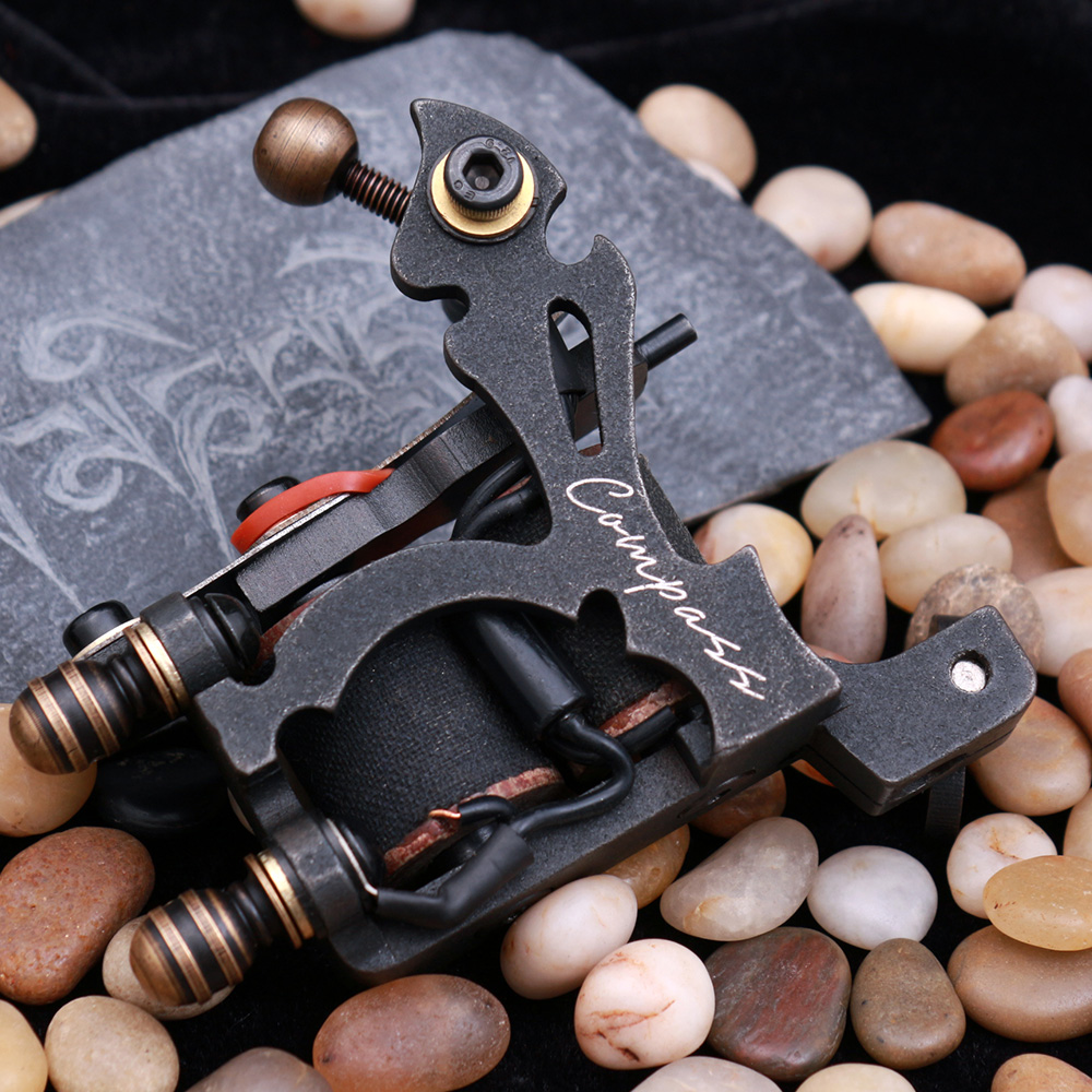 professional Compass Tattoo Machine Shader Liner Tattoo Gun Steel Frame Copper Coils MAGELLAN SERIES professional compass tattoo machine liner