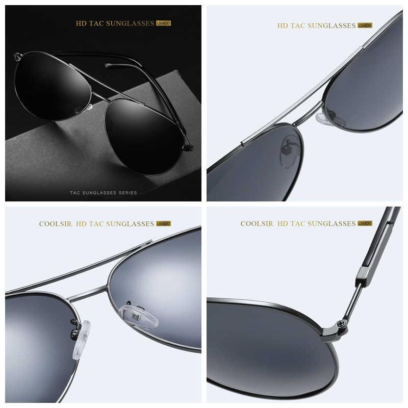 YASANDO Fashion Sunglasses Men Polarized Lens Classic Pilot Outdoor Driving Eyewear UV400 Male Sun Glass Men Women GS1503