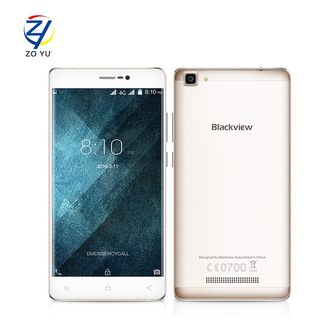 "Blackview A8 Max 4G 5.5"" HD IPS Smartphone Android 6.0 MTK6737 Quad Core 1.3GHz Cellphone 2GB+16GB 8MP 3000mah Mobile Phone"