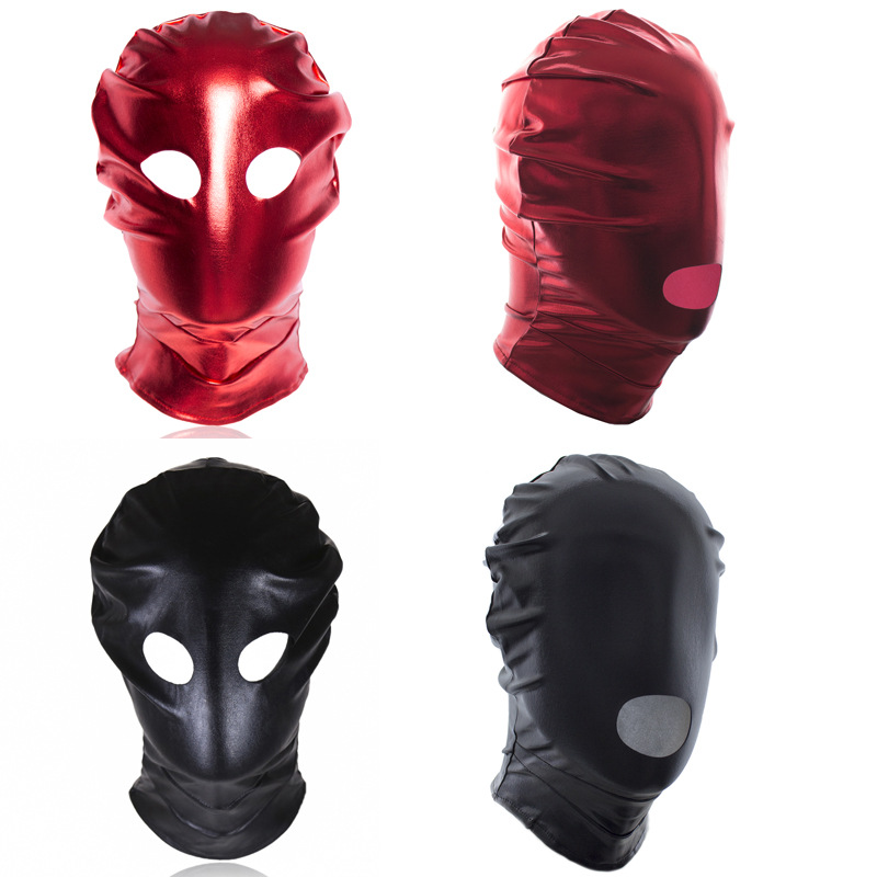 SM Sex Toy Hood Black Mask Breathable Headpiece Fetish Headgear Party Adult Games Products Masks