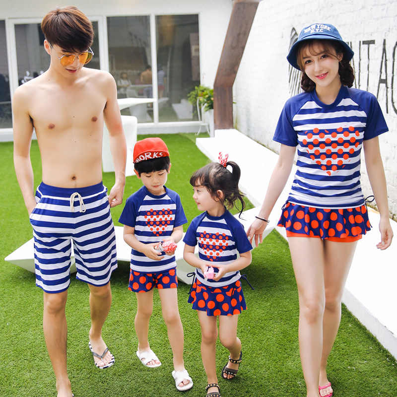 15644463b7 Mother and Daughter Swimsuit Father and Son Matching Clothes Family  Clothing Couple Matching Swimsuit Girl Swimwear