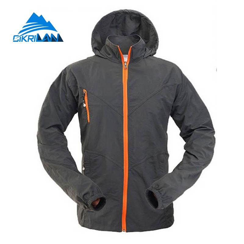 New Hooded Sport Quick Dry Sun Protection Climbing Hiking Outdoor Jacket Men Breathable Cycling Coat Camping Jaqueta Masculino