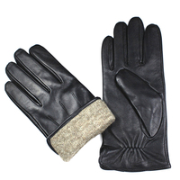 Leather Gloves Men S High Grade Imports Of Sheepskin Gloves Fashion Stripe Style Wool Lined Warm
