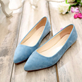 NEW arrive pointed toe Women Shoes suede Comfortable women flats Rubber Women Flat Shoes women high quality flats female Flats