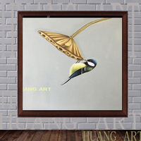 Artist Hand painted High Quality Modern Realistic Magpies Bird Oil Painting on Canvas Modern The magpies Bird Oil Painting for