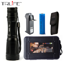 6000 Lumens Flashlight Zoomable/Adjustable LED CREE XM-L T6 Tactical Flashlight Zoom Torch +1x 18650 Battery +Charger