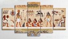 Egypt People 5pcs DIY Diamond Painting Cross Stitch Kits Full Embroidery 5D Mosaic Home Decor