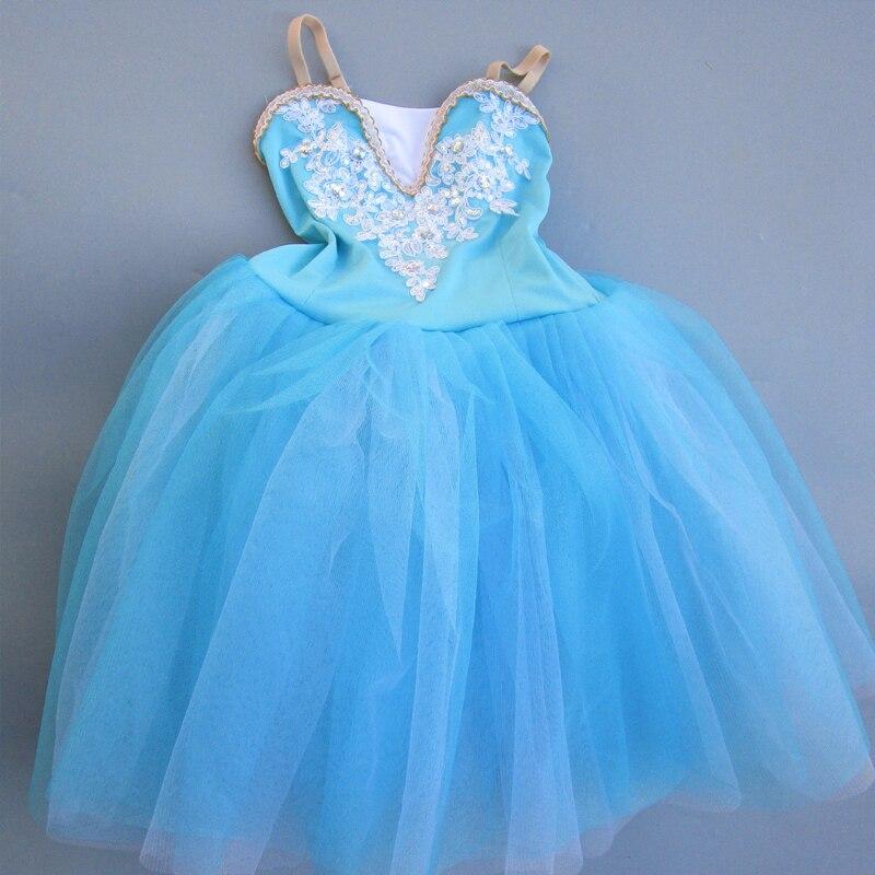 Adult Romantic Professional Ballet Tutu Costume Modern Dance Fairy Long Tulle Dress Show Dance Child Girl Ballet Mujer Kids