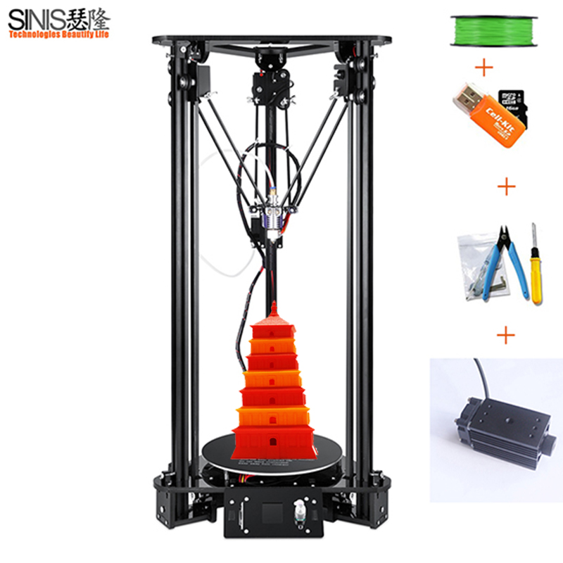Laser Engraving Lcd Screen 3D Printer DIY Kit For Kossel Linear Delta Large 3d Printing Easy Assemble EU US UK Plug 3d Printer цена 2017