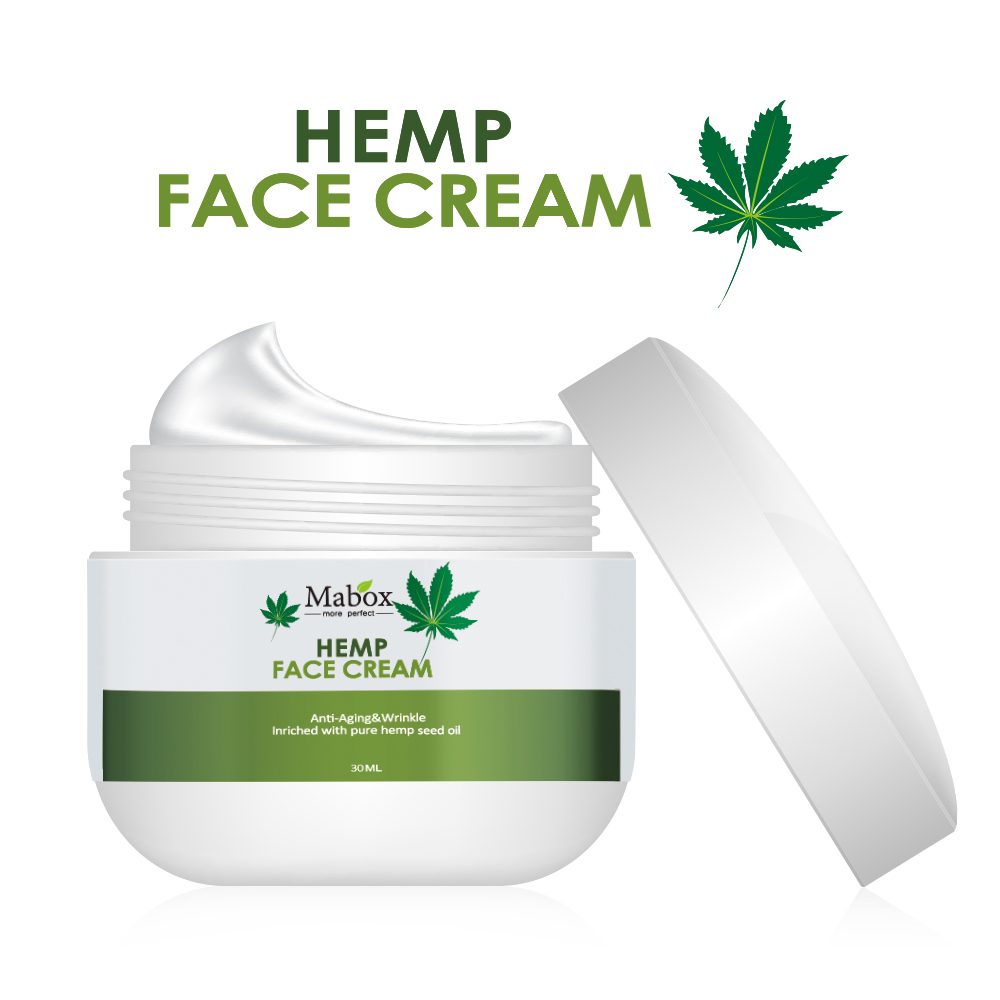 Natural Organic Hemp Seed Oil,Vitamin C,E Facial Moisturizer-For sensitive,dry and oily anti-wrinkle anti-aging skin care produc image