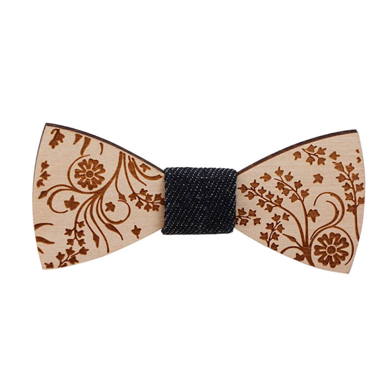 Men And Women Fashion Wooden Bow Ties Clips Multi Pattern Style Unisex Bowties Casual Party Butterfly Gravats Neck Wear Ties