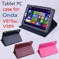 Оригинал ONDA V975W V989 Флип Утра Тонкий Кожаный Чехол для ONDA V975W V989 2014 Новый 9.7 дюймов Tablet PC, ONDA V975W V989 Случае