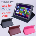 Original ONDA V975W V989 Flip Utra Thin Leather Case for ONDA V975W V989 2014 New 9.7 inch Tablet PC , ONDA V975W V989 Case