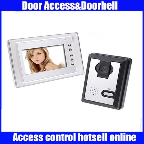 7 Inch Video Door Phone Doorbell Intercom Kit 1-camera 1-monitor Night Vision mountainone 7 video doorbell intercom kit 1 camera 1 monitor